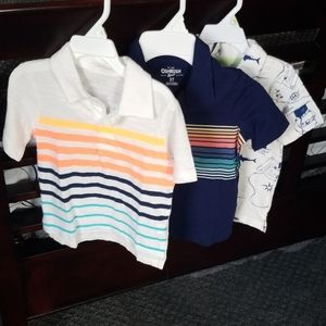 Lot of 3 collared boys shirts, nwot size 2t and 3t